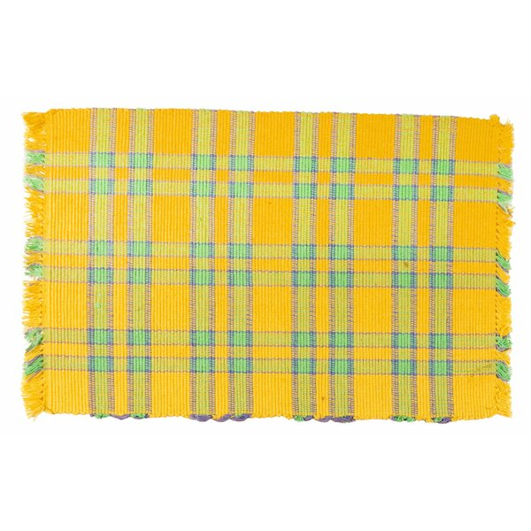 Custard 100% Cotton 18 Placemat (Set of 6) by Traders and Company